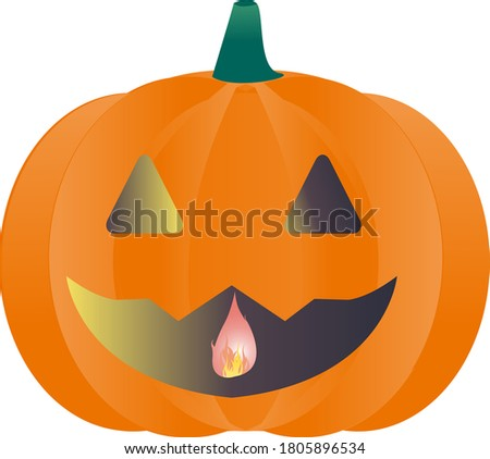 illustration of haunted pumpkin