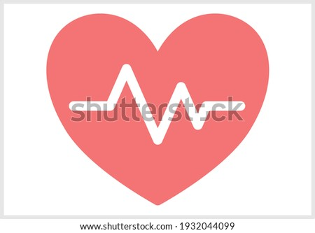Illustration of heart and simple design of the electrocardiogram Foto stock ©