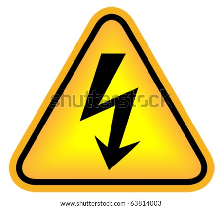 Illustration of high voltage sign