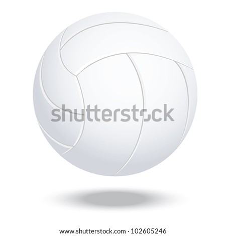 illustration of highly rendered volleyball, isolated in white background.
