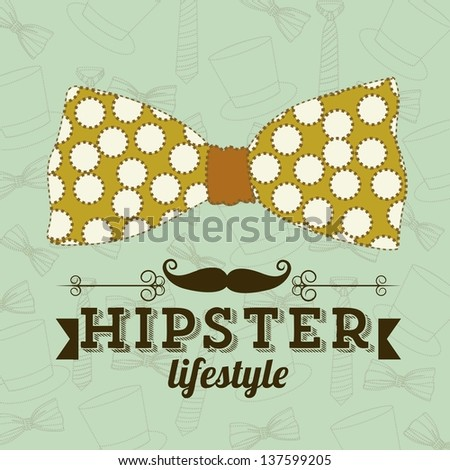Illustration of hipster culture or father's day, vector illustration