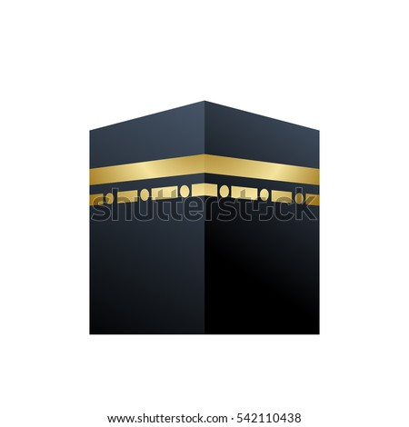 illustration of holy kaaba in