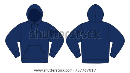 illustration of hoodie  hooded