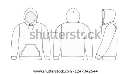 Illustration of hoodie (hooded sweatshirt) / white