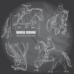 illustration of horse riding.