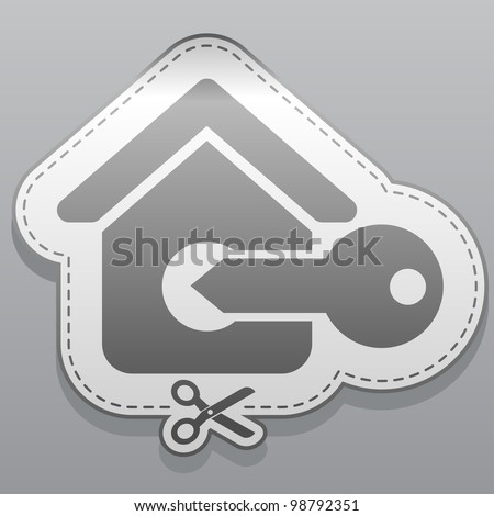 Illustration of house sticker icon