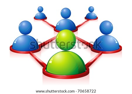 illustration of human connecting with each other showing networking