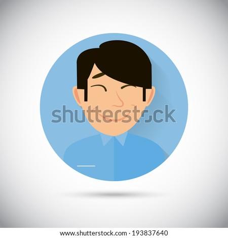 Illustration of Human Emotions happy flat icon