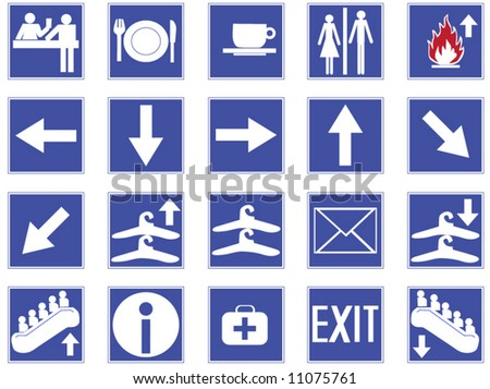 Illustration of icons - stock vector