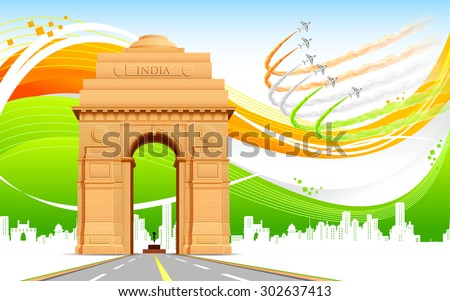 illustration of india gate on