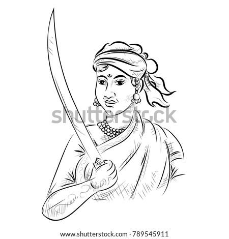 illustration of indian