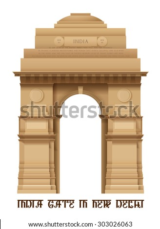 illustration of indian gate in