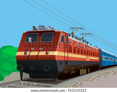 illustration of indian rail