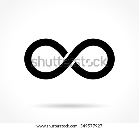 Illustration of infinite icon on white background