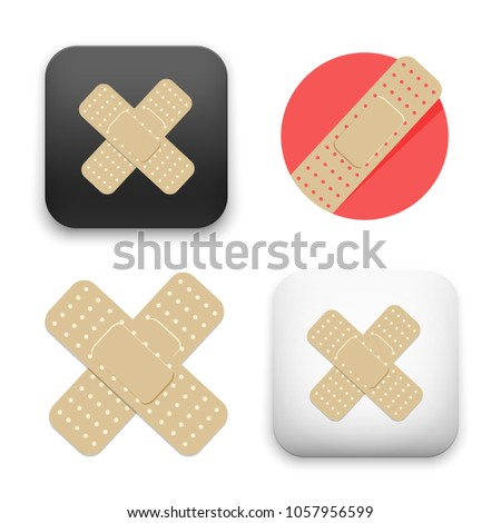 illustration of injury tape plaster icon