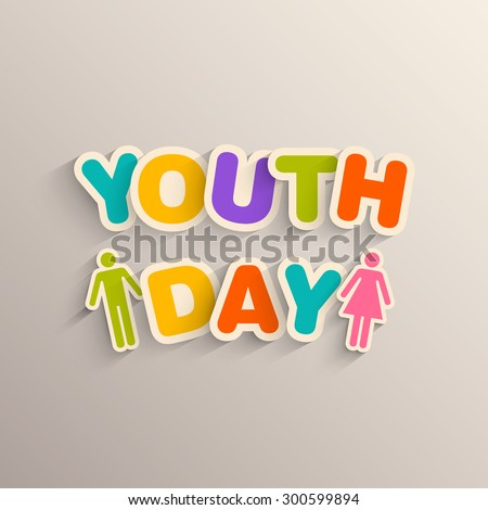 Illustration of International Youth day,12 August.