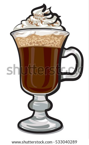 illustration of irish coffee