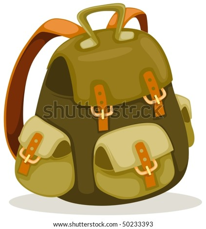 illustration of isolated a backpack on white background