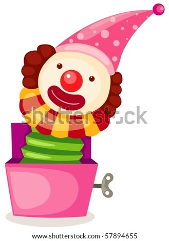 illustration of isolated a box toy on white background