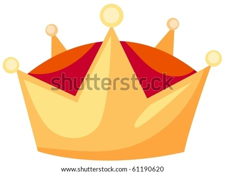 illustration of isolated  a crown on white background
