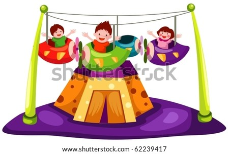 illustration of isolated amusement on white background