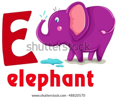 Cute animal alphabet download free vector art stock graphics images illustration of isolated animal alphabet e with elephant thecheapjerseys Gallery