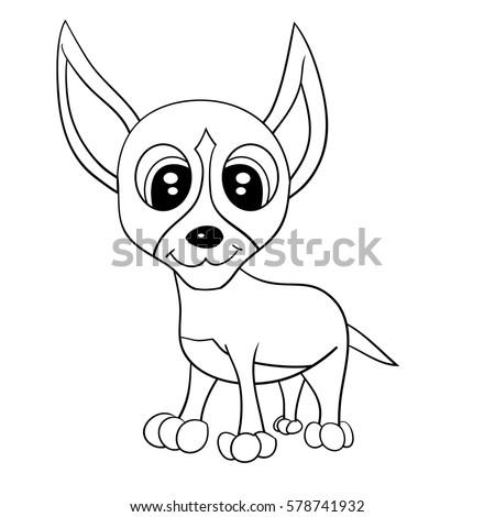 illustration of isolated cartoon cute chihuahua dog jpeg ez canvas