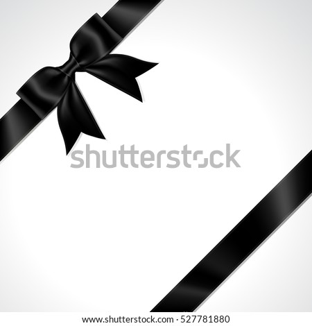 Illustration of isolated black ribbon. black ribbon bow vector.