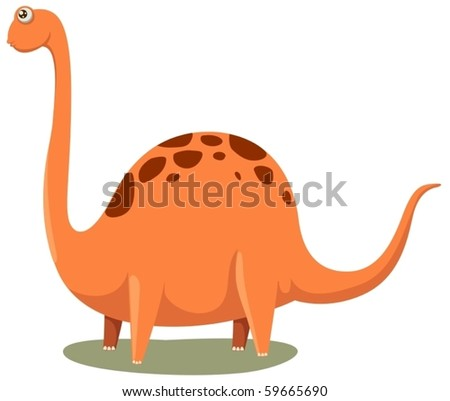 illustration of isolated cartoon dinosaur on white background