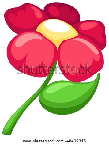 cartoon flowers background. of isolated cartoon flower