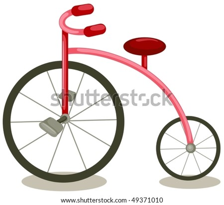 Of isolated cartoon vintage bicycle on white background stock vector