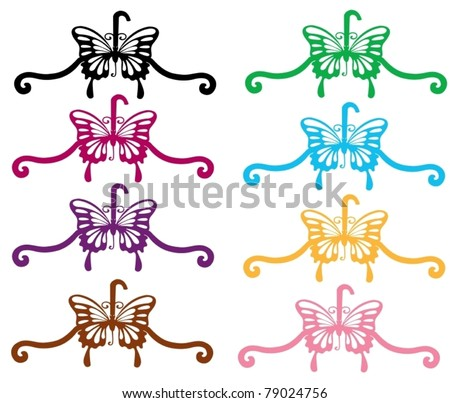 illustration of isolated colorful coat hanger on white background