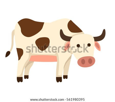 illustration of isolated cow on