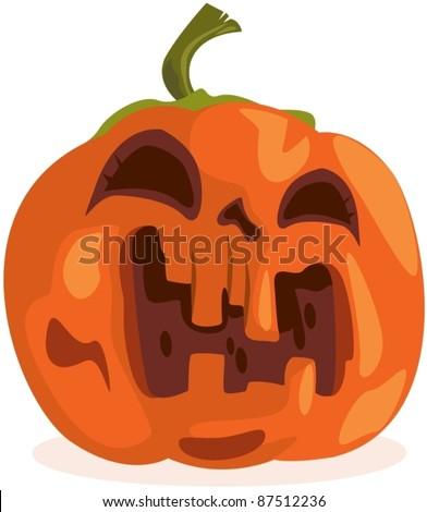 illustration of isolated halloween pumpkin on white