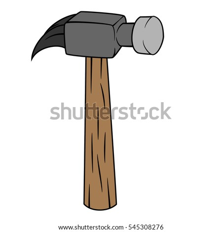 Illustration of Isolated Hammer Cartoon Drawing. Vector EPS 8.