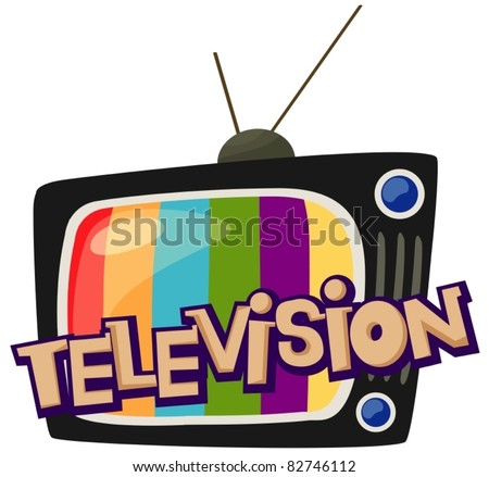 illustration of isolated letter of television  on white background