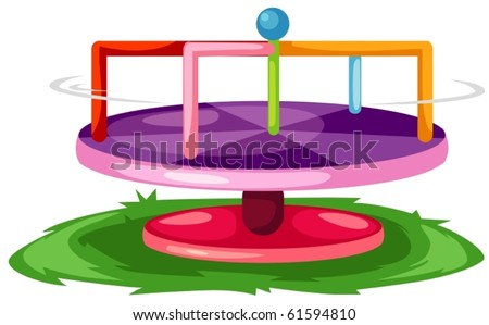 illustration of isolated merry-go-round on white background