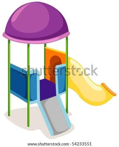 illustration of isolated playground slide on white background