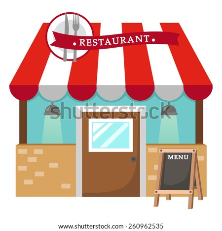Shutterstock illustration of isolated restaurant vector
