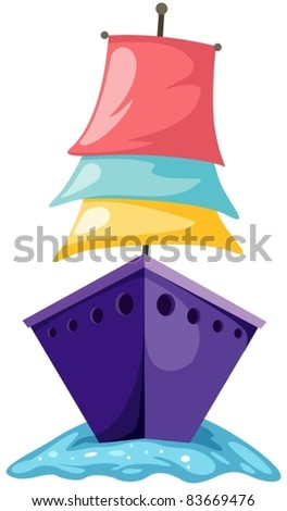 illustration of isolated sailboat on white background