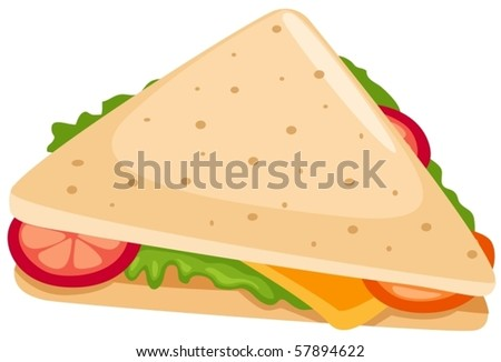 illustration of isolated sandwich on white background