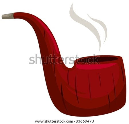 illustration of isolated smoking pipe on white background