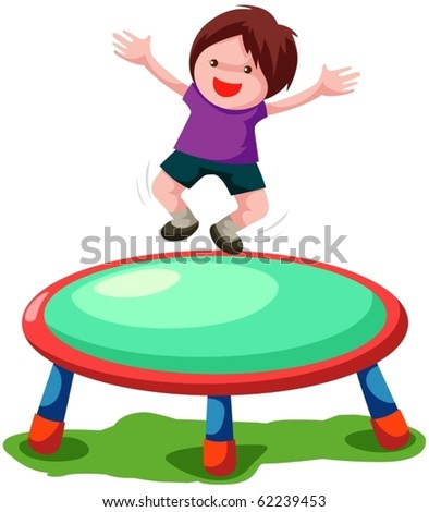 illustration of isolated trampoline jumping on white background