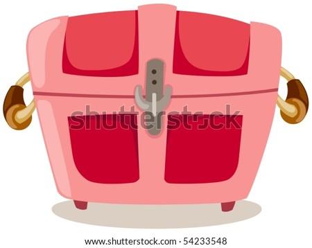 illustration of isolated treasure chest on white background