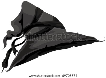 illustration of isolated  witch hat on white background