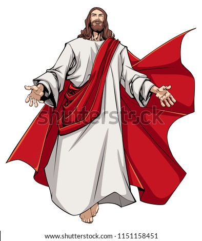 Illustration of Jesus Christ greeting you with open arms.