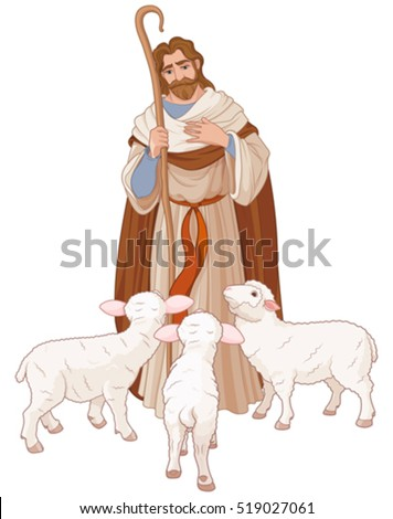 illustration of jesus christ is