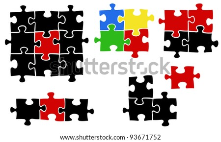 illustration of jigsaw puzzle pieces