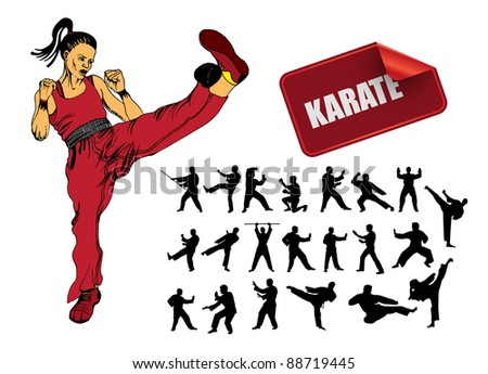 Illustration of karate - stock vector