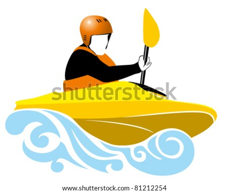 illustration of kayaking